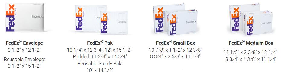 MintFulfill FedEx OneRate Boxes